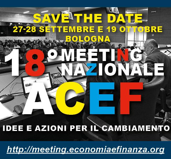 Idee e azioni per cambiare: a Bologna il 18°Meeting ACEF