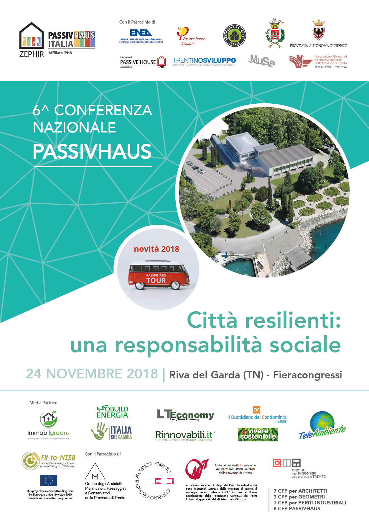 6^ Conferenza Nazionale Passivhaus: 24 novembre Riva del Garda
