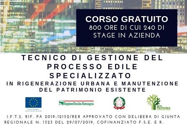 Tecnico di gestione del processo edile: corso gratuito a Bologna, aperte le iscrizioni