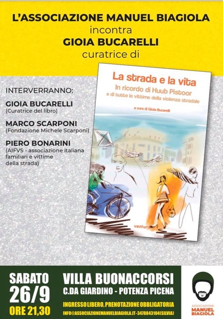 """Presentazione del libro """"La strada e la vita"""" a cura di Gioia Bucarelli"""