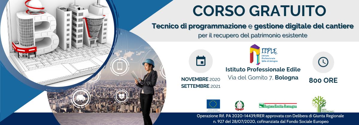 Corso per tecnico di programmazione e gestione digitale del cantiere in partenza a Bologna