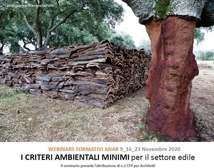 Tre webinar di ANAB sui Criteri Ambientali Minimi per il settore edile