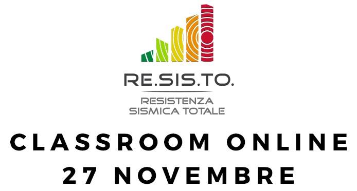 Classroom RE.SIS.TO. – Evento online il 27 novembre