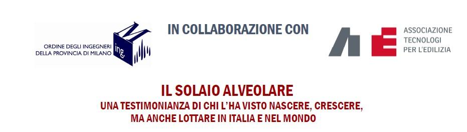 """Lectio Magistralis online """"Il solaio alveolare"""" con l'Ing. Bruno della Bella"""