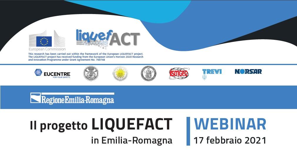 """Webinar """"Il progetto Liquefact in Emilia-Romagna"""""""