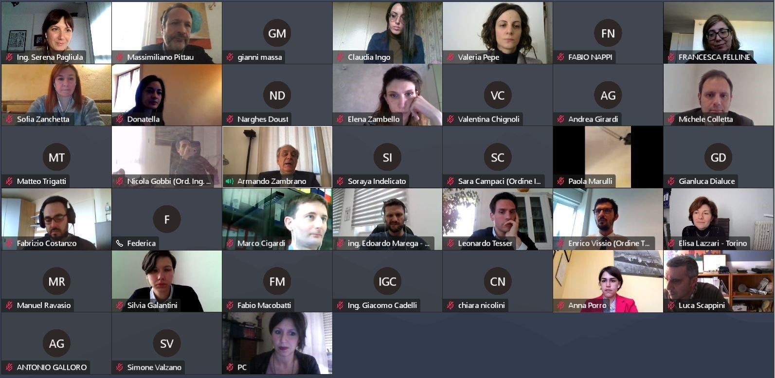 """Network Giovani Ingegneri: assemblea """"virtuale"""" e obiettivi concreti per il 2021"""