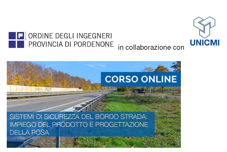 """Corso online """"Sistemi di sicurezza del bordo della strada"""""""