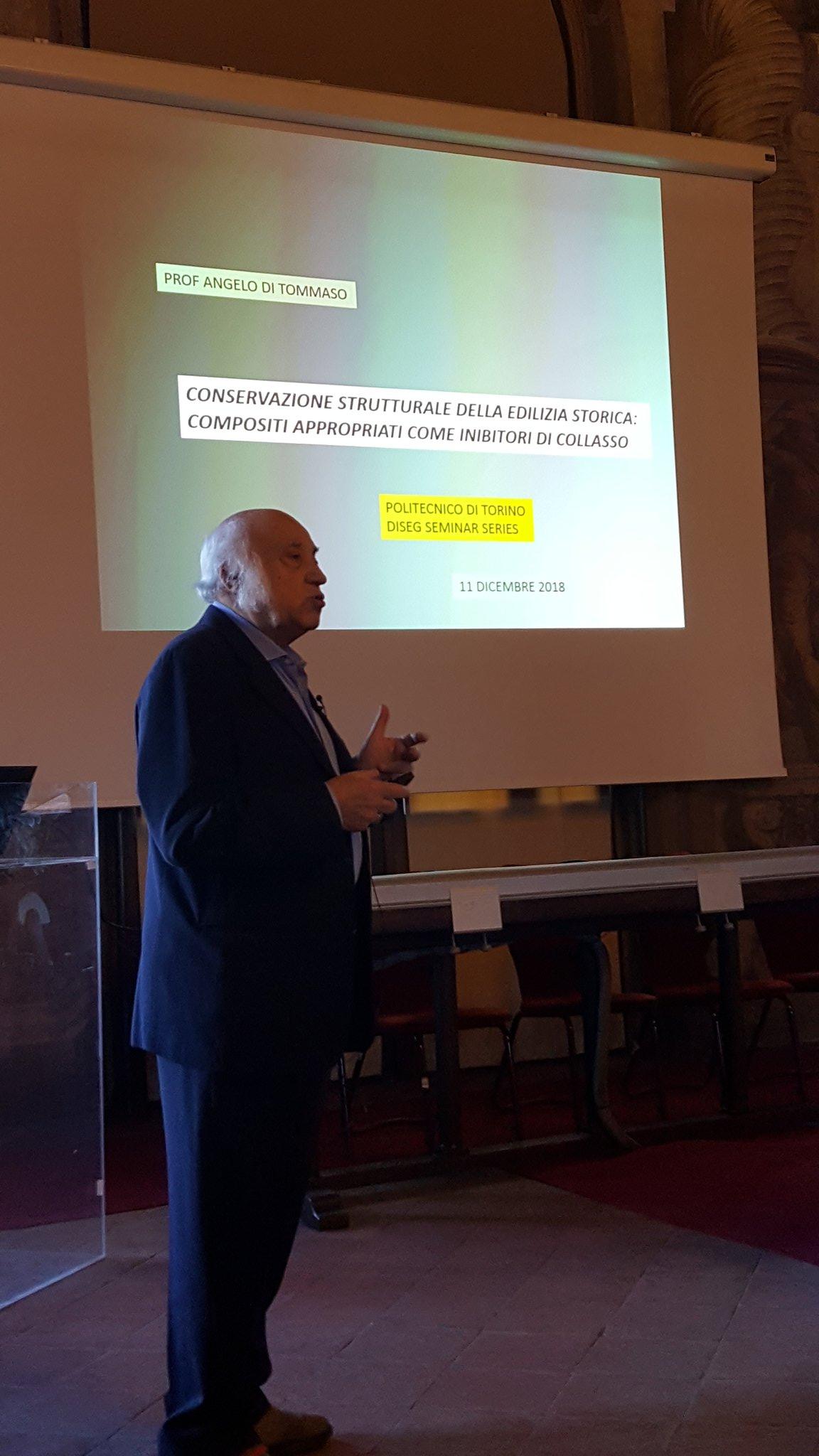 """Evento """"Tecniche contemporanee di rinforzo e consolidamento strutturale"""" : Docente Ing. Di Tommaso"""