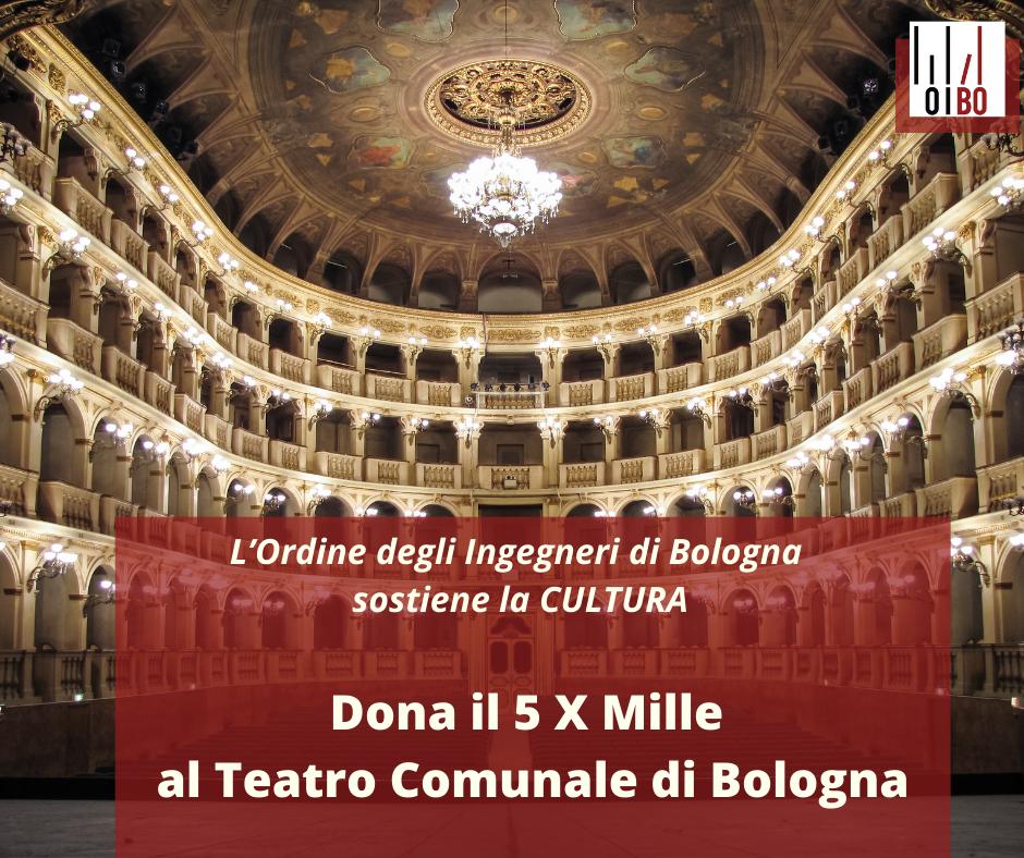 Una città migliore passa dalla Cultura: il 5 X Mille al teatro Comunale di Bologna