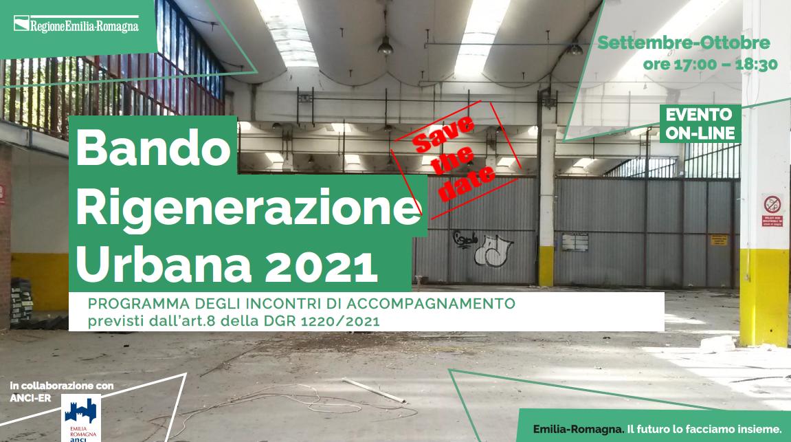 Bando Rigenerazione Urbana 2021 ER: programma degli eventi di accompagnamento
